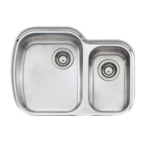Wessan 27.62-in x 19.75-in x 8-in x 6-in stainless Steel 1.5 Double Undermount Sink