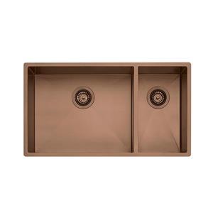 Wessan Double 1-1/2 Universal Mount Sink - 31-in x 17 1/2-in x 8-in- Copper