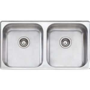Wessan Stainless Double Undermount Kitchen Sink - 35-in x 20-in x 8-in