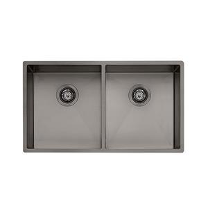 Wessan Double Universal Mount Sink - 31-in x 17 1/2-in x 8-in - Gunmetal
