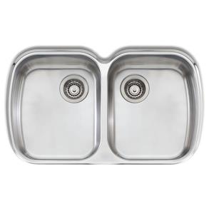 Wessan Double Undermount Sink - 32 1/4-in x 19 3/4-in x 8-in - Stainless