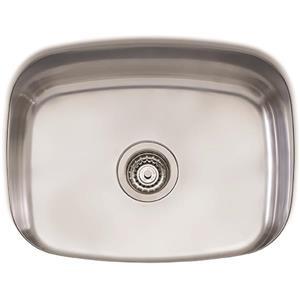 Wessan Stainless Steel Undermount Sink - 23 1/4-in x 18 1/2-in x 9 1/4-in