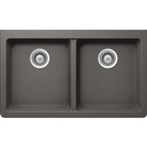 Wessan Granite Double Undermount Sink - 18 1/2-in x 33-in x 9 1/2-in