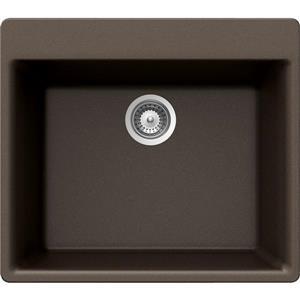Wessan Granite Drop-In Sink - 21-in x 23 5/8-in x 8 5/8-in - Bronze