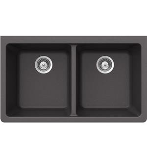 Wessan Granite Double Undermount Sink - 18 1/2-in x 33-in x 9 1/2-in