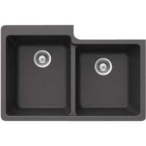 Wessan Granite Double 1-3/4 Undermount Sink - 22-in x 33-in x 9 1/2-in