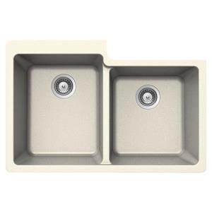 Wessan Double 1-3/4 Undermount Sink - 22-in x 33-in x 9 1/2-in - Magnolia