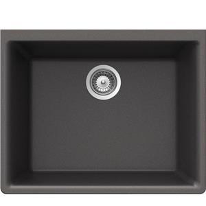 Wessan Granite Undermount Sink - 18 1/4-in x 23 5/8-in x 8 5/8-in - Steel