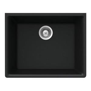 Wessan Granite Undermount Sink - 18 1/4-in x 23 5/8-in x 8 5/8-in - Black