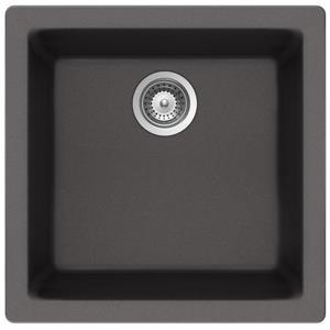 Wessan Universal Granite Sink - 16 15/16-in x 17 3/4-in x 7 7/8-in- Steel