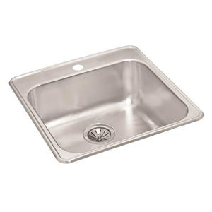 Wessan Stainless Steel Drop-in Sink - 20 7/8-in x 20 1/2-in x 8-in