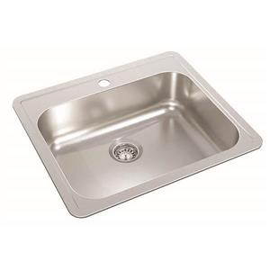 Wessan Stainless Steel Drop-In Kitchen Sink - 21-in x 24-in x 8-in