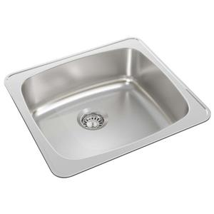 Wessan Stainless Steel Drop-In Kitchen Sink - 18-in x 20-in x 7-in