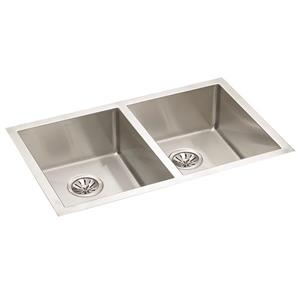 Wessan Stainless Steel Double Undermount Sink - 18-in x 31-in x 9-in