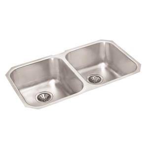 Wessan Stainless Steel Double Undermount Sink - 19-in x 30-in x 8-in