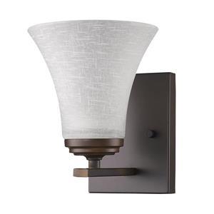 Acclaim Lighting Union 7.75-in Bronze 1 Bulb Wall Light