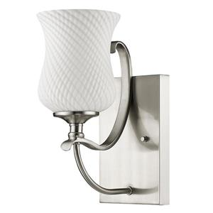 Acclaim Lighting Evelyn 11.5-in W 1-Light Nickel Wall Sconce