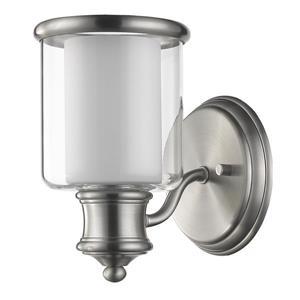 Acclaim Lighting Giuliana 8.5-in Nickel 1-Bulb Wall Light