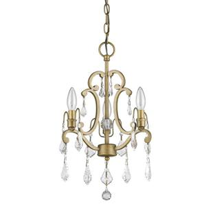 Acclaim Lighting Clair 20-In 2-Light Gold Wall Sconce