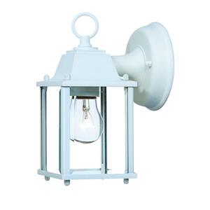 Acclaim Lighting Builder's Choice 8.5-in White Clear Beveled Outdoor Wall Lantern