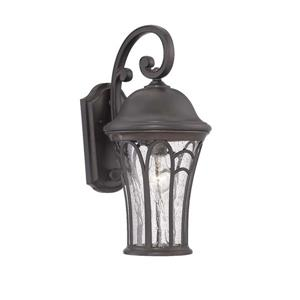 Acclaim Lighting Highgate 19-in Black Coral MarbleX Outdoor Wall Lantern