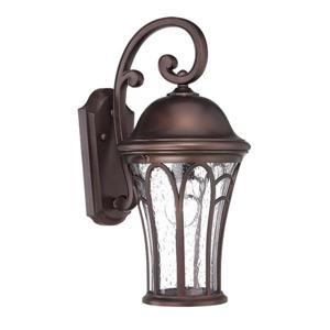 Acclaim Lighting Highgate 16-in Black Clear Glass Outdoor Lantern