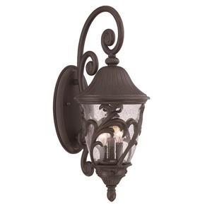 Acclaim Lighting Capri 24-in x 9-in Black Coral Wall Mounted Lantern