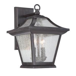Acclaim Lighting Aiken 12.62-in Black Coral MarbleX Outdoor Wall Lantern