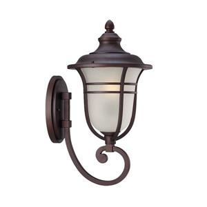 Acclaim Lighting Montclair 21.25-In x 11.00-In  Frosted Manufacturer Color/Finish Architectural Bronze Wall Mounted Lantern