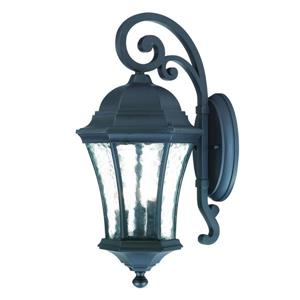 Acclaim Lighting Waverly 19.5-in Matte Black Aluminum 3-Light Outdoor Wall Lantern
