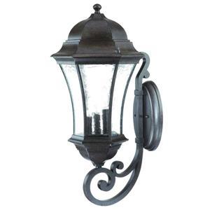 "Acclaim Lighting Waverly Wall-Mounted Lantern - 26.75"" - Aluminum - Black"