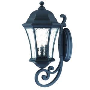 Acclaim Lighting Waverly 19.5-in Matte Black Aluminum 3-Light Upward Outdoor Wall Lantern