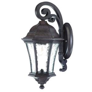 Acclaim Lighting Waverly 16.5-in Black Coral Aluminum Outdoor Wall Lantern