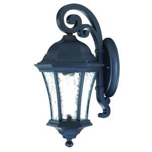 Acclaim Lighting Waverly 16.5-in Matte Black MarbleX Outdoor Wall Lantern