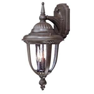 Acclaim Lighting Monterey 20.75-In x 10.00-In Burled Walnut Wall Mounted Lantern