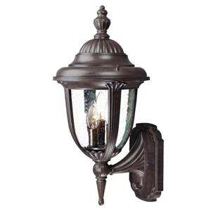 Acclaim Lighting Monterey 20.50-In x 10.00-In Burled Walnut Wall Mounted Lantern