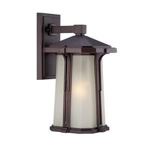 Acclaim Lighting Illuma 16.25-in Matte Bronze Frosted Glass Outdoor Wall Lantern