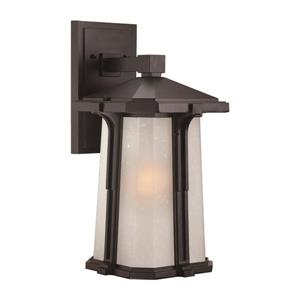 Acclaim Lighting Illuma 16.25-in Matte Black Frosted Glass Outdoor Wall Lantern