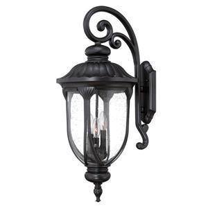Acclaim Lighting Naples 27.5-in Matte Black Aluminum 3-Light Outdoor Wall Lantern