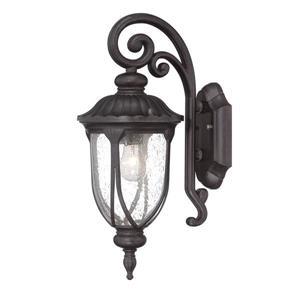 Acclaim Lighting Laurens 16.5-in Black Coral Aluminum Outdoor Wall Lantern