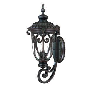 Acclaim Lighting Naples 27.50-in x 11.25-in Matte Black Wall Mounted Lantern