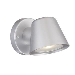 Acclaim Lighting 4.5-in Brushed Silver Clear Glass Tapered Cylinder LED Outdoor Wall Sconce