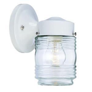 Acclaim Lighting Naples 7.25-in Gloss White Steel Outdoor Wall Lantern