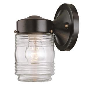 Acclaim Lighting Builders' Choice 7.25-in x 4.50-in Matte Black Wall Mounted Lantern