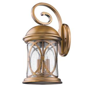 Acclaim Lighting Lincoln 19-in Antique Bronze Clear Glass 3-Light Outdoor Wall Lantern
