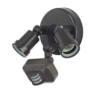 2-Light Motion Activated Polycarbonate Adjustable LED Flood Light