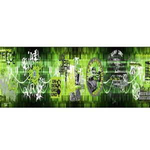 Walls Republic Neon Green Numbers Non-Woven Border Unpasted Wallpaper