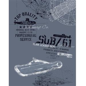 Walls Republic Submarine Mural 56 sq ft Unpasted Wallpaper
