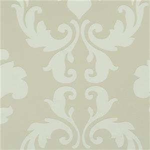 Walls Republic Vanilla Metallic Floral Damask Non-Woven Unpasted Wallpaper