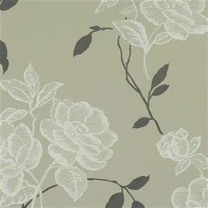 Walls Republic Vintage Floral 57 sq ft Grey Unpasted Wallpaper